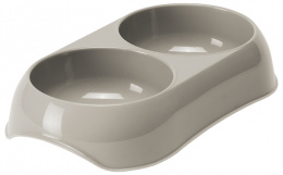 Миска для кошек – MAGIC CAT, Double Plastic Bowl, 2 x 200 мл, Grey