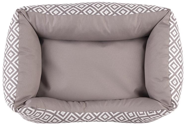 Лежанка для собак – Dog Fantasy DeLuxe Sofa, 75 x 65 x 19 см, brown