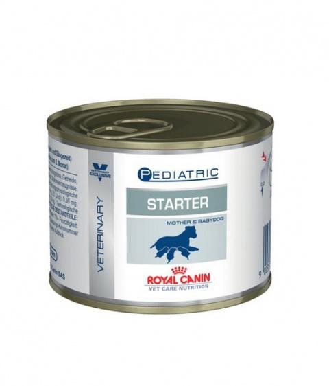 Veterinārie konservi kucēniem - Royal Canin Pediatric Starter, 200 g title=