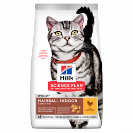 Barība kaķiem - Hill's Adult Hairball Control for indoor cats, Chicken, 3 kg