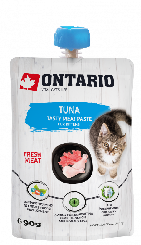 Gardums kaķēniem - Ontario Kitten Tuna Fresh Meat Paste, 90 g title=
