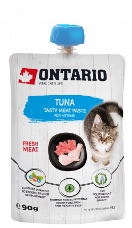 Лакомство для котят - Ontario Kitten Tuna Fresh Meat Paste, 90 г