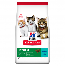 Barība kaķēniem - Hill's Feline Kitten Tuna, 1.5 kg