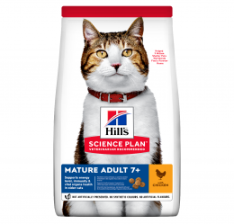 Корм для кошек - Hill's Science Plan Feline Adult Mature 7+ Chicken, 1.5 кг
