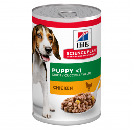Konservi kucēniem - Hill's Canine Puppy Chicken, 370 g