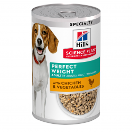 Konservi suņiem - Hill's Canine Perfect Weight Chicken & Vegetables, 370 g