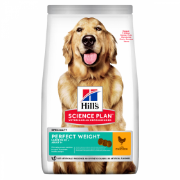 Barība suņiem - Hill's Canine Adult Perfect Weight Large Breed, 12 kg