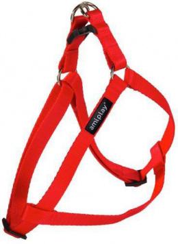Krūšu siksna - AmiPlay Adjustable Harness Basic M, 30-55*1.5cm, krāsa - sarkana