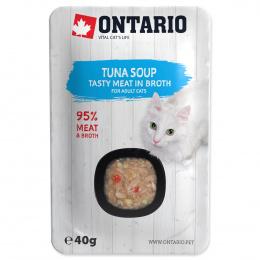 Konservi kaķiem - Ontario Soup Adult Tuna with Vegetables, 40 g