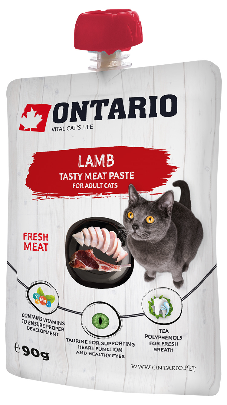 Gardums kaķiem - Ontario Lamb Fresh Meat Paste, 90 g