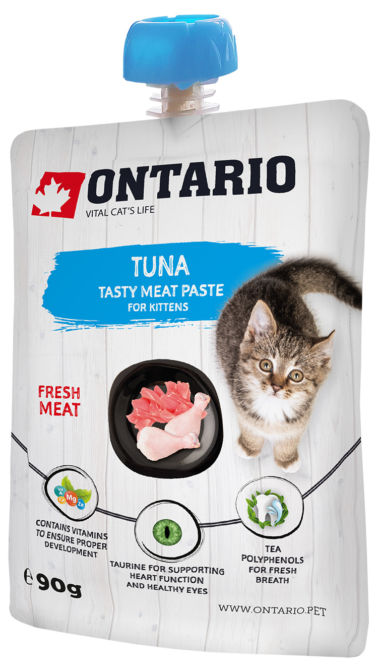 Gardums kaķēniem - Ontario Kitten Tuna Fresh Meat Paste, 90 g