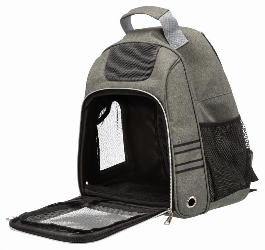 Transportēšanas mugursoma dzīvniekiem - Trixie Dan, 38*50*26 cm, grey