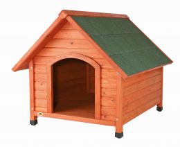 Будка для собак - Natura dog kennel with saddle roof, M: 100x82x90 см, tan