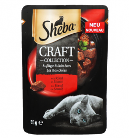 Konservi kaķiem - Sheba CRAFT Collection Beef, 85 g