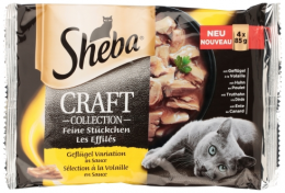 Konservi kaķiem - Sheba CRAFT Collection Poultry, 4 x 85 g