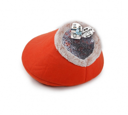 Guļvieta kaķiem - Vintage Pet Reversible Cat Bed, orange
