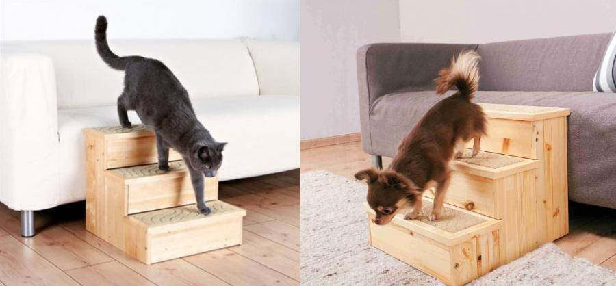 Koka trepes dzīvniekiem - Trixie, PetStair Stairs, 40 x 38 x 45 cm