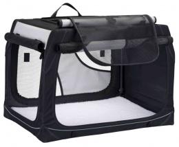 Транспортировочный бокс для животных - Trixie, Vario Mobile Kennel, L, 99 x 65 x 71 см, black/grey