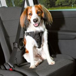 Automašīnas krūšu siksna - TRIXIE Dog Comfort Car Harness, Black, S–M: 40–55 cm