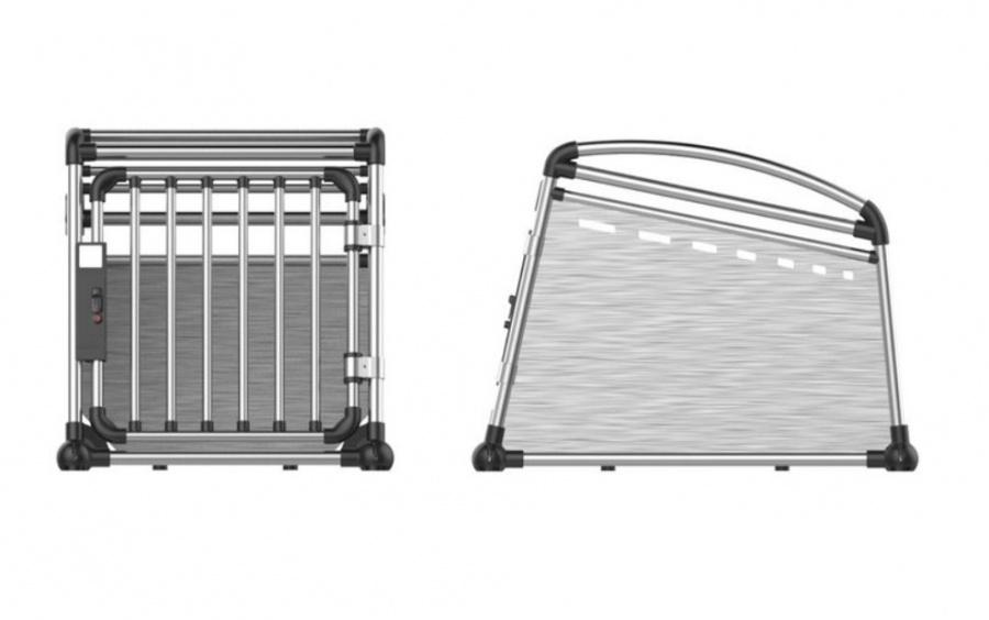 Transportēšanas bokss - Aluminum Travel Crate M, 52 x 64,5 x 77 cm