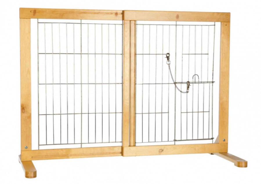 Barjers suņiem - koka durvis trixie