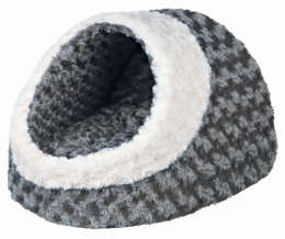 Лежанка для кошек - Kaline Cuddly Cave, grey/cream, 35*26*41 см