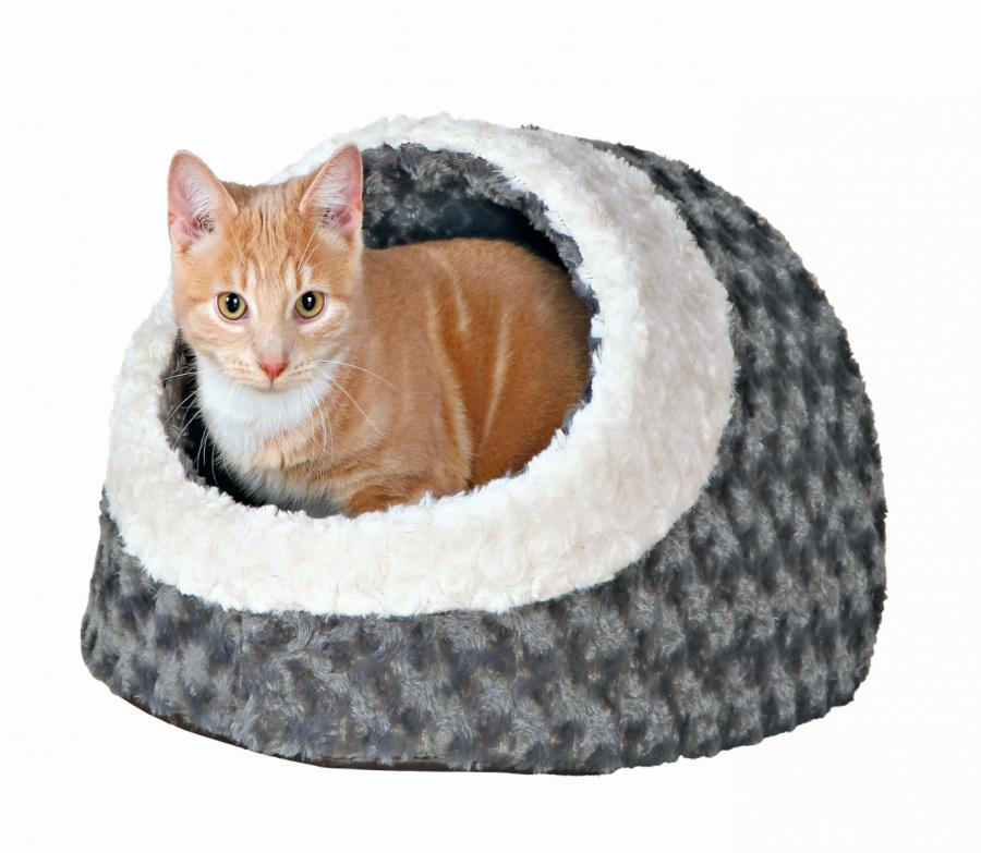 Guļvieta kaķiem – TRIXIE Kaline Cuddly Cave, 35 x 26 x 41 cm, Grey/Cream