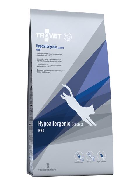 Ветеринарный корм для кошек - Trovet RRD Hypoallergenic Rabbit, 3 кг