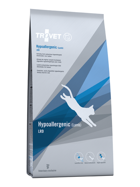 Ветеринарный корм для кошек - Trovet LRD Hypoallergenic Lamb, 3 кг