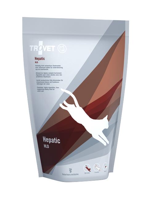 Veterinārā barība kaķiem - Trovet HLD Hepatic, 500 g