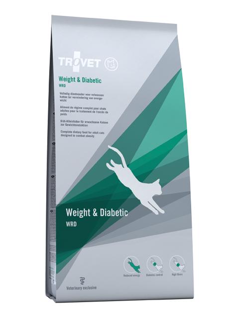 Veterinārā barība kaķiem - Trovet WRD Weight & Diabetic, 3 kg