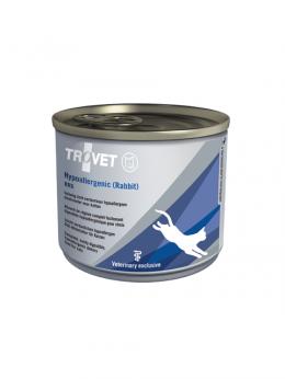 Ветеринарные консервы для кошек - Trovet RRD Hypoallergenic Rabbit, 200 г
