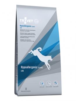 Ветеринарный корм для собак - Trovet LRD Hypoallergenic Lamb, 12.5 кг
