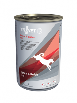 Veterinārie konservi suņiem - Trovet RID Renal and Oxalate, 400 g