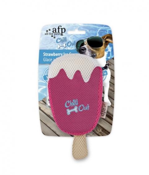Охлаждающая игрушка для собак - AFP Strawberry Ice Cream title=