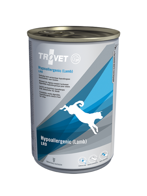 Ветеринарные консервы для собак - Trovet LRD Hypoallergenic Lamb, 400 г title=