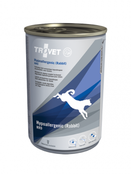 Ветеринарные консервы для собак - Trovet RRD Hypoallergenic Rabbit, 400 г
