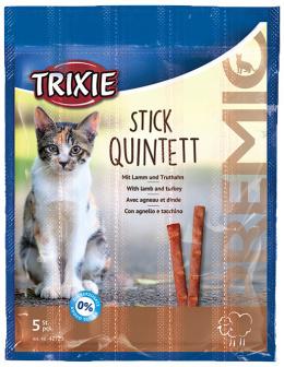 Gardums kaķiem - TRIXIE Premio Sticks Anti-Hairball, Lamb and Turkey, 5 x 5 g