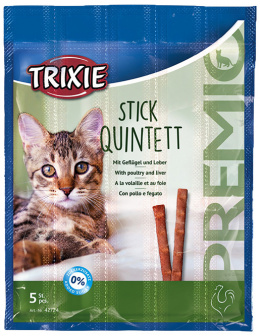 Лакомство для кошек - Trixie Premio Quadro-Sticks anti-hairball, с курицей и печенью, 4*5 г