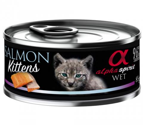 Konservi kaķēniem - Alpha Spirit Kitten Salmon, 85 g title=