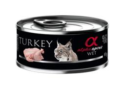 Konservi kaķiem - Alpha Spirit Turkey, 85 g