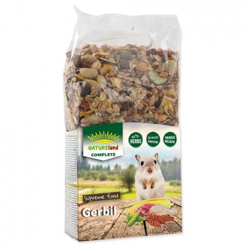 Корм для песчанок - Nature Land Complete Food Gerbil, 300 г title=