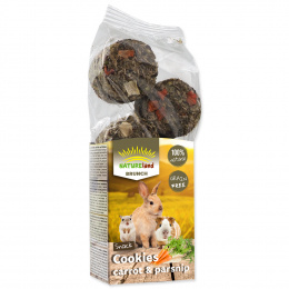 Лакомство для грызунов - Nature Land Brunch Grainfree Cookies Carrot and Parsnip, 120 г