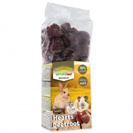 Лакомство для грызунов - Nature Land Brunch Grainfree Hearts beetroot, 150 г
