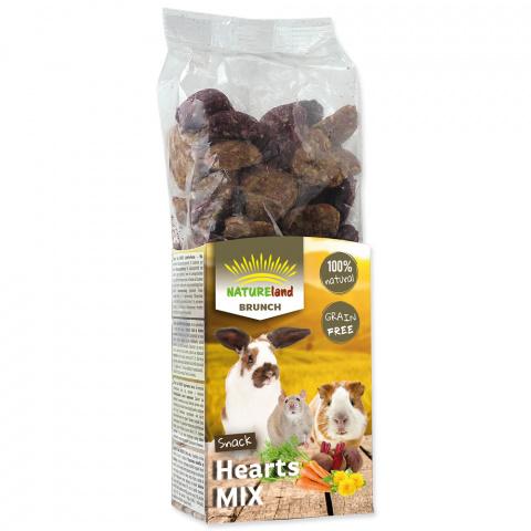Gardums grauzējiem - Nature Land Brunch Grainfree Hearts mix, 150 g title=