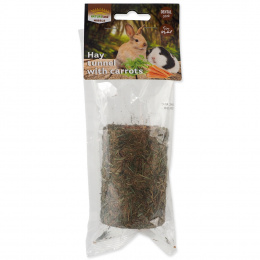 Gardums grauzējiem - Nature Land Nibble hay Tunnel filled with Carrot, 125 g