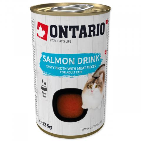 Konservi kaķiem - Ontario Drink Adult Salmon, 135 g title=
