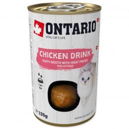 Konservi kaķēniem - Ontario Drink Kitten Chicken, 135 g