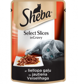 Консервы для кошек - Sheba Cuisine Beef in Gravy, 85 г