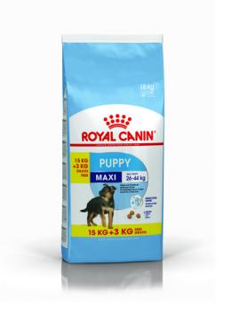 Barība kucēniem - Royal Canin Maxi Puppy, 15+3 kg